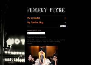My Flavors.me Homepage with my Tumblr Blog Feed opened